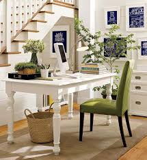 simple home office decorations. make your dream come true at pottery barn cool interior room design with white vintage computer desk and high green office chair also laminated wood simple home decorations