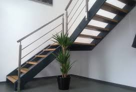 Stainless steel railing / cable / indoor / for stairs SQUARE LINE Q .