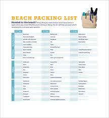 Packing List For Vacation Template Packing List Template Shatterlion Info