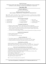 Dental Assistant Resume Examples Spectacular Example Resume For