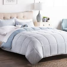 What size is a queen comforter Pinch Pleat Brookside Striped Reversible Chambray Down Alternative Comforter Set Walmart Size Queen Comforter Sets Find Great Fashion Bedding Deals