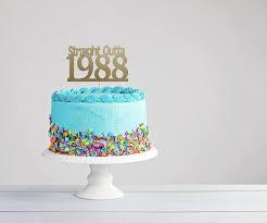 Thirtieth Birthday Cake Topper 40th Birthday Cake Topper Etsy