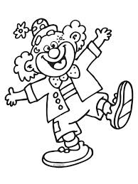 Happy Clown Coloring Pages Coloring 365
