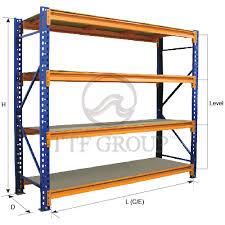 longspan shelving rack 600kgs shelve