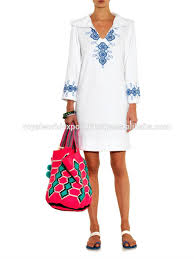 American Embroidered Hooded 100 Cotton Modern Kaftan Casual Swim