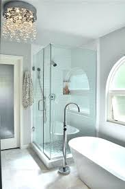 bathroom crystal lights bathroom crystal light fixtures waterfall crystal chandelier by shower and stand alone tub