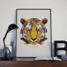 lsu gift graduation gift for men lsu wall art lsu prints tiger