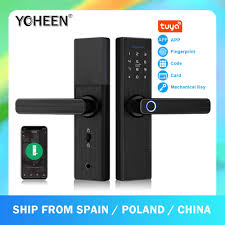 New X6 <b>Waterproof</b> tuya smartlife security <b>fingerprint</b> wifi smart door ...