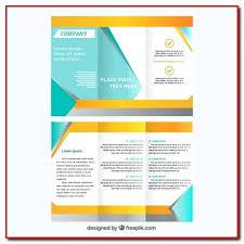 Fold Brochure Template Free Download Folding Tri Ai