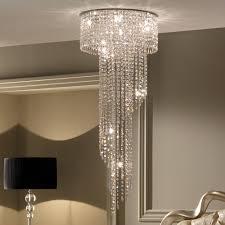 designer high end italian stairwell crystal chandelier