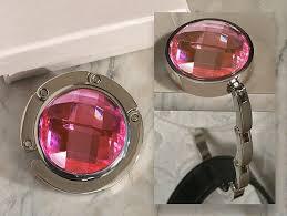 2874 murano art deco collection round pink crystal handbag holder