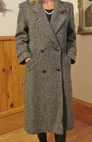 las london fog tempo europa wool coat winter coat herringbone tweed coat size 10 petit pure larger image