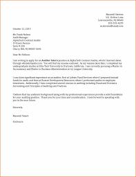 Uncategorized 13 Cover Letter For Audit Trainee Cover Letter Fort