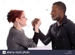 Mature black man and mature woman