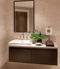 bathroom sink cabinets. Brilliant Cabinets View In Gallery Sporadic Presence Of Natural Green To Liven Up The Floating Sink  Cabinet Intended Bathroom Sink Cabinets E