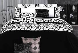 lyde black and white king queen size quilt cover duvet cover set