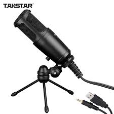 takstar gl 100fx wired condenser side address recording mic microphone for computer with tripod