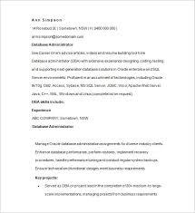 14+ Sample Database Administrator Resume Templates - Doc, Pdf   Free ...