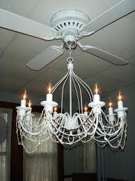 white chandelier ceiling fan light kit