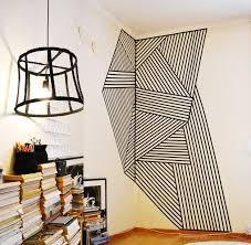 washi tape corner wall art