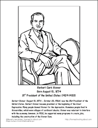 Small Picture Herbert Hoover Worksheets and Coloring Pages Herbert hoover