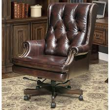 brown leather office chair.  Leather And Brown Leather Office Chair F