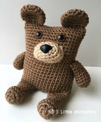 Crochet Bear Pattern Inspiration 48 Little Monsters Boxy Bear