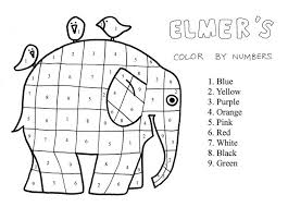 Elmer The Elephant Coloring Page Free Coloring Page