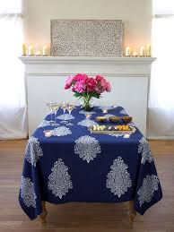 navy blue tablecloth white paisley print rectangular tablecloth 90 180 120 inch long 70 inch wide saffron marigold