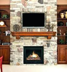above electric fireplace corner stone with stand stacked