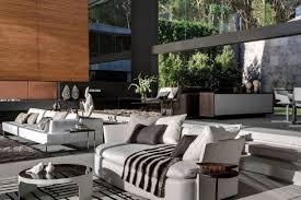 black white modern living room