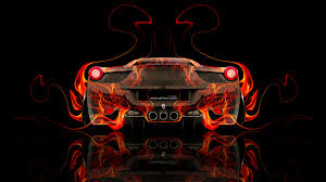 ferrari italia fire abstract car