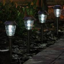 Smart Living Charleston Copper Finish Pathway Lights Smart Solar 3426wrm6 Hp Charleston 6 Pack Solar Lights Heritage Pewter Stainless Steel With Electroplated Pewter Finish And Real Glass Shade And