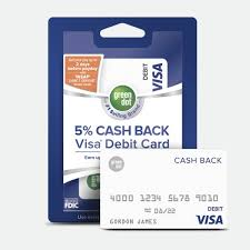 5 cash back visa debit card