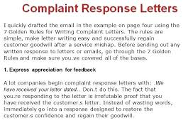 Complaint Letters Samples Stunning Customer Complaint Letter Template Lccorpco