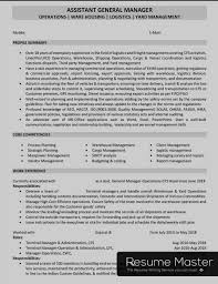 Logistics Management Resume Logistics And Freight Manager Resume Master