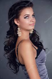 Cheveux Beauté Femme Aux Longs Cheveux Noirs Coiffure