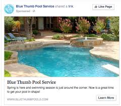 pool service ad. Facebook Ad For Pool Service T