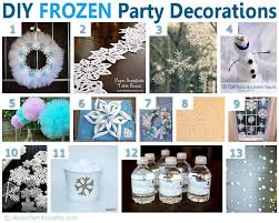 diy frozen inspired party decorations