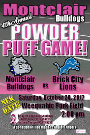 powder puff football flyers fundraiser by marie brown moore montclair bulldogs powder puff 2017
