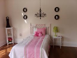 image of modern girls room chandelier