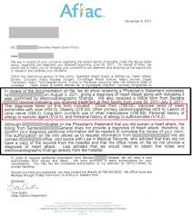 aflac follow up claims letter