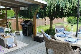 Outdoor patio ideas Recognizealeader Backyard Partially Covered Patio Designed For Outdoor Living Clean And Scentsible Outdoor Living Summer Patio Decorating Ideas Clean And Scentsible