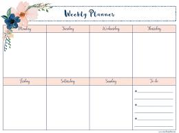 Printable Week Planner Free Printable Weekly Planner Our Class Nation