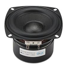 speakers subwoofer. drok 4\u0026quot; 4 ohm black audio speakers, 40w anti-magnetic car stereo speakers subwoofer