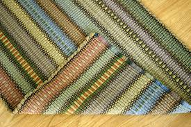 cotton runner rug handwoven rag rug woven cotton rug runner by texturesgallery