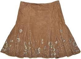 Ralph Lauren Women <b>Fashion</b> Bell <b>Flower</b> Leather Skirt (<b>8</b>, Brown ...