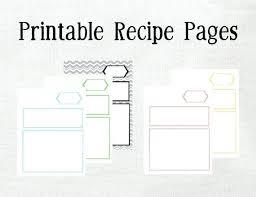 Recipe Blank Template Blank Recipe Template Lupark Co