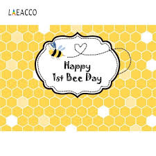 <b>Laeacco Happy 1st</b> Bee Day Honeycomb Baby <b>Birthday</b> Party ...