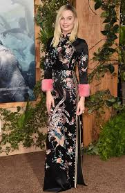 gucci dress. the gucci frock was first worn by margot robbbie in la last year. picture: dress s